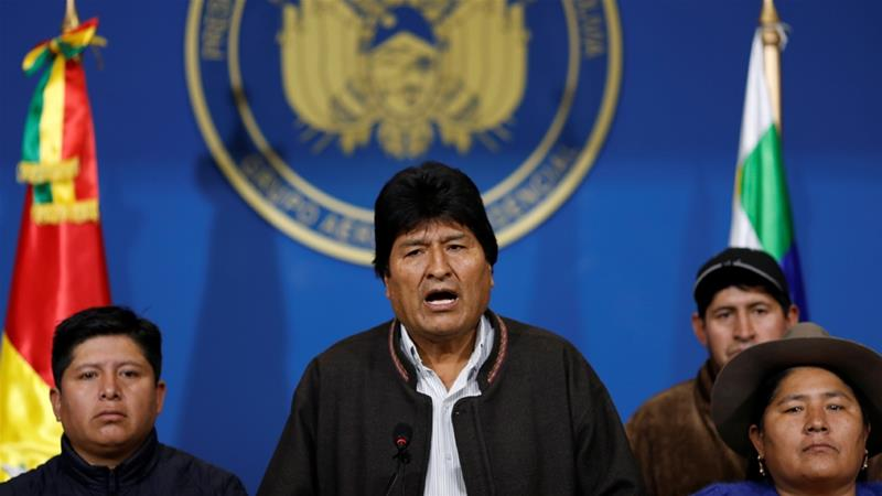 Bolivia's Morales calls for new elections after OAS audit