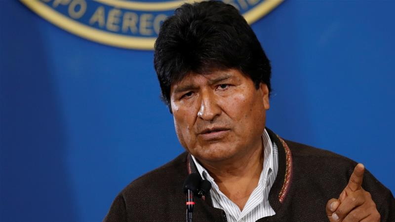 Bolivia's President Evo Morales tweeted late on Monday that he was leaving for Mexico where he has been granted asylum. [Carlos Garcia Rawlins/Reuters]