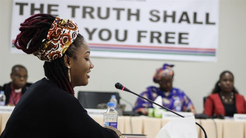 Fatou Jallow, known as Toufah, says she was raped by former Gambian leader Yahya Jammeh after he noticed her in 2014, when at 19 she won a beauty pageant [Courtesy: TRRC]