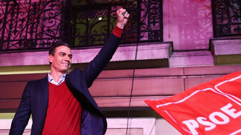 Spain's acting Prime Minister and Socialist Party leader Pedro Sanchez hoped the election would give him a larger majority but now faces difficult negotiations to form a coalition. [Sergio Perez/Reuters]