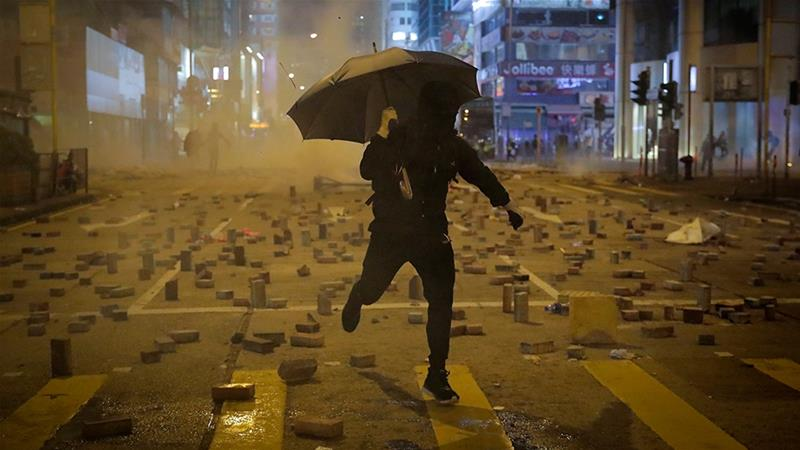 US expresses 'grave concern' about escalating Hong Kong violence