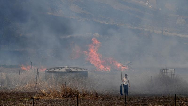 Australians were warned of a 'catastrophic' fire risk earlier this week. [Dean Lewins/AAP Image via Reuters]