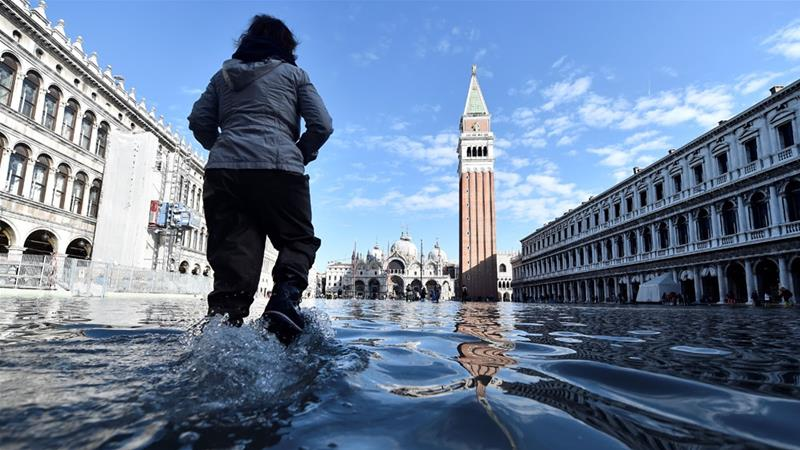 Many, including Venice's mayor, have blamed the disaster on global warming [Flavio Lo Scalzo/Reuters]
