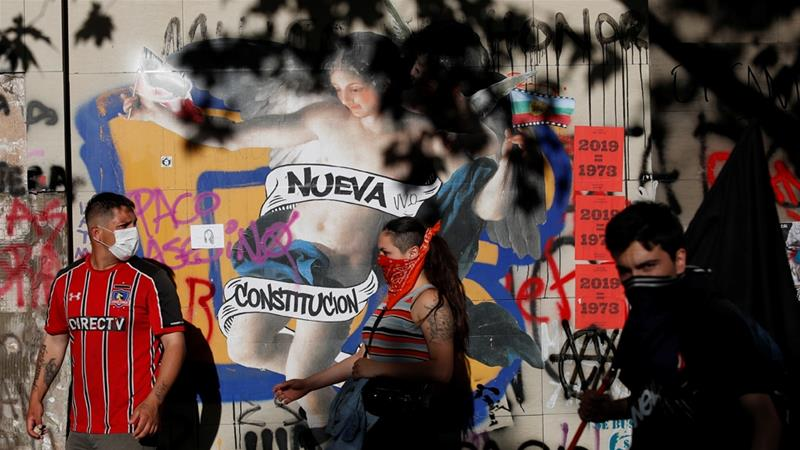 A new constitution has been one of the key demands of protesters [Jorge Silva/Reuters]