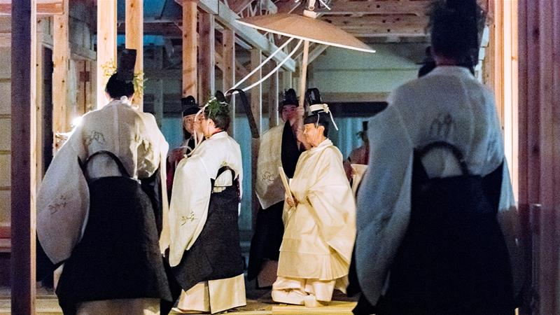 Japan's Emperor Naruhito concluded the rituals surrounding his accession to the throne on Friday with the 'Daijosai', the most overtly religious ceremony of the accession rituals. [Imperial Household Agency of Japan via Reuters]
