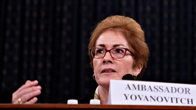 Trump tweet attacks former ambassador during her impeachment testimony