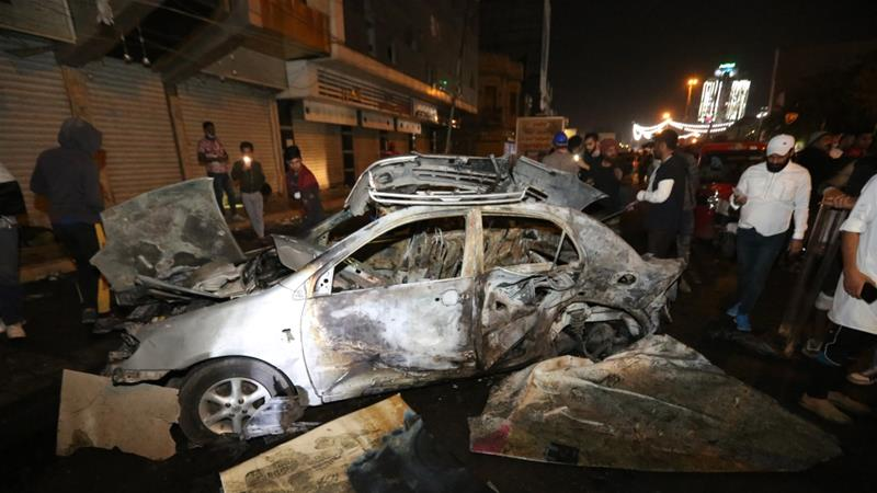 The bomb blast damaged several cars in the area, which lies between Tayaran and Tahrir squares in Baghdad [Anadolu]