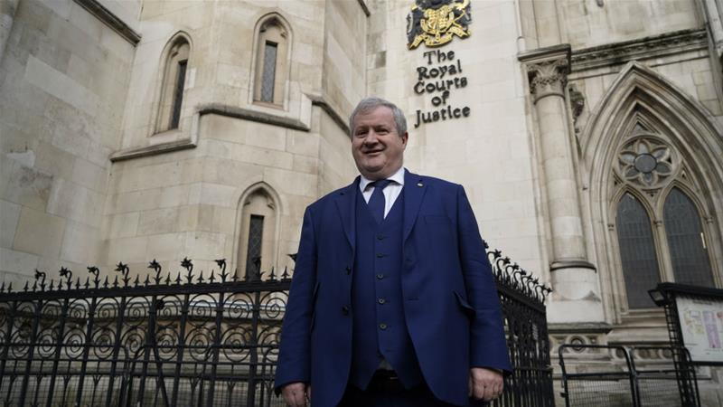 The SNP's Westminster leader Ian Blackford took a bid to be included in a TV debate to London's High Court on Monday [Niklas Halle'n/AFP]