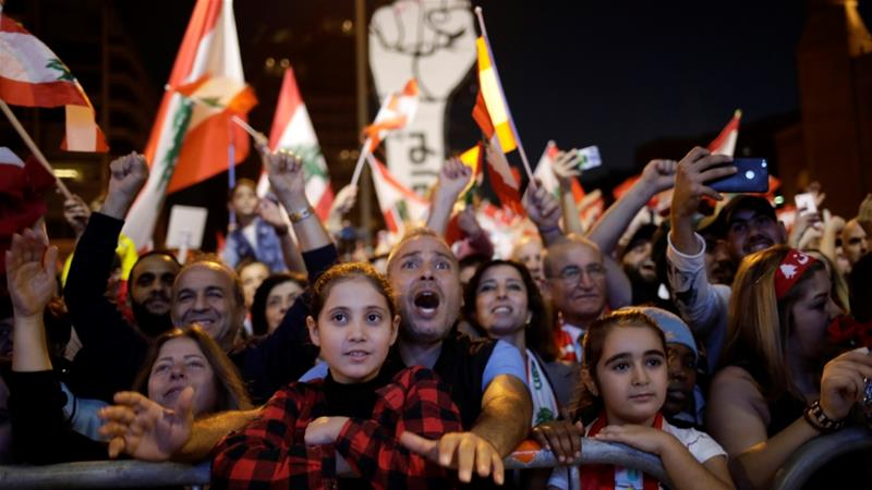 Protests across Lebanon enter their second month after people first took to the streets on October 17 in what quickly became a nationwide protest movement against the ruling class [Andres Martinez Casares/Reuters]
