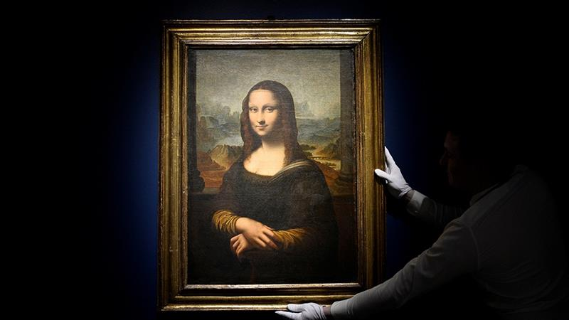 Image result for Replica of da Vinci's Mona Lisa sells for 552,500 euros