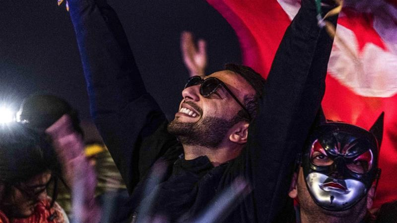 Most of the 5,000 revellers gathered for the festival were Tunisians [Amine Landoulsi/AFP]