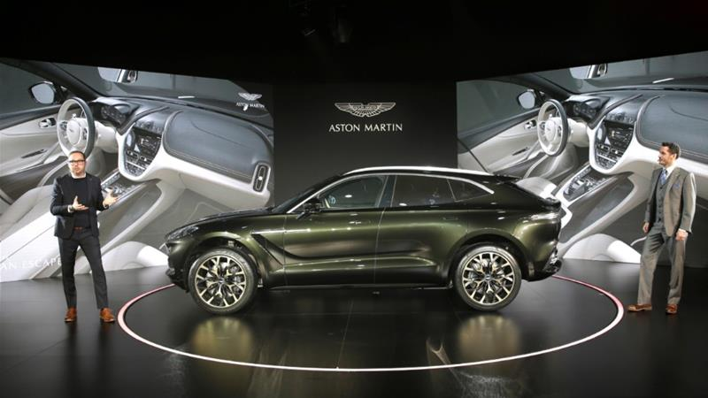 Aston Martin hopes its new DBX, the company's first sport utility vehicle, will turn around the firm's flagging fortunes [Jason Lee/Reuters]