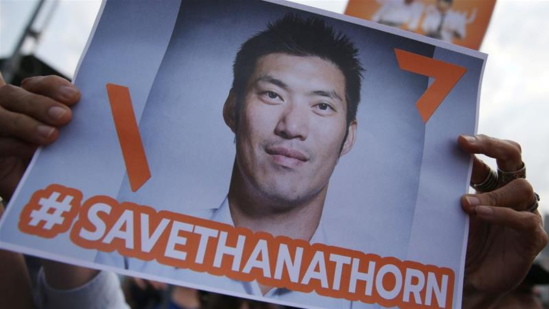 Thanathorn was found guilty but escaped a jail sentence and political ban [File: Athit Perawongmetha/Reuters]