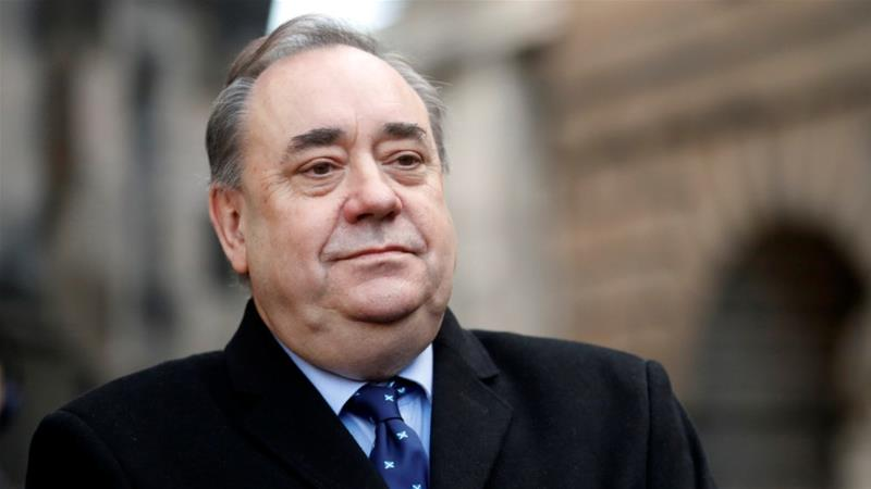 Former First Minister of Scotland Alex Salmond on Thursday appeared in court to face sex offence charges [Russell Cheyne/Reuters]