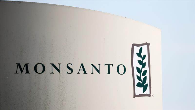 Monsanto, a formerly US corporation specialising in agrochemical and agricultural biotechnology, was acquired by Bayer AG in 2018 as part of the German firm's crop science division [File: Stephane Mahe/Reuters]