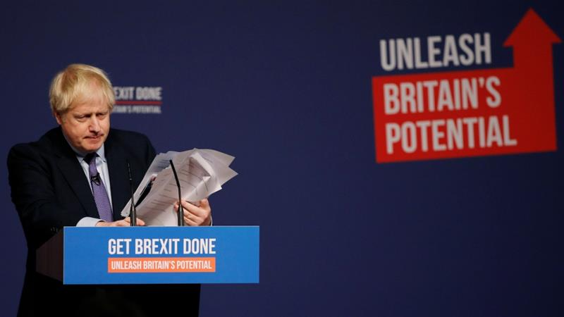 Johnson unveils manifesto for Brexit Britain
