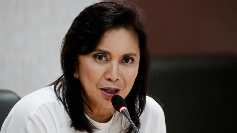 Philippine Vice President Leni Robredo has openly criticised the president's anti-drug campaign [File: Eloisa Lopez/Reuters]