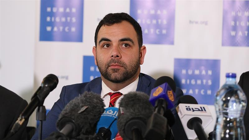 Israel has sought to expel Omar Shakir, HRW director for Israel and the Palestinian territories for more than a year [Abir Sultan/EPA]