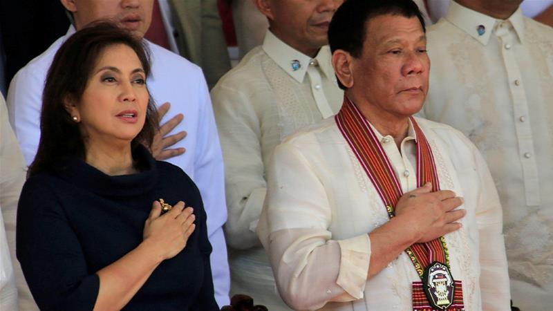 Vice President Leni Robredo says she will not stop trying to end drug killings in President Rodrigo Duterte's 'war on drugs' [File: Romeo Ranoco/Reuters]