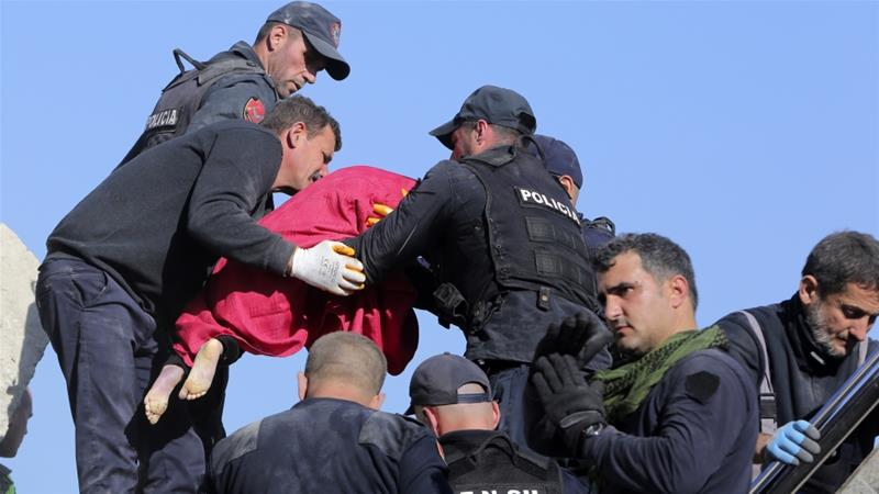 Man rescued in Albanian quake after 24hrs under rubble
