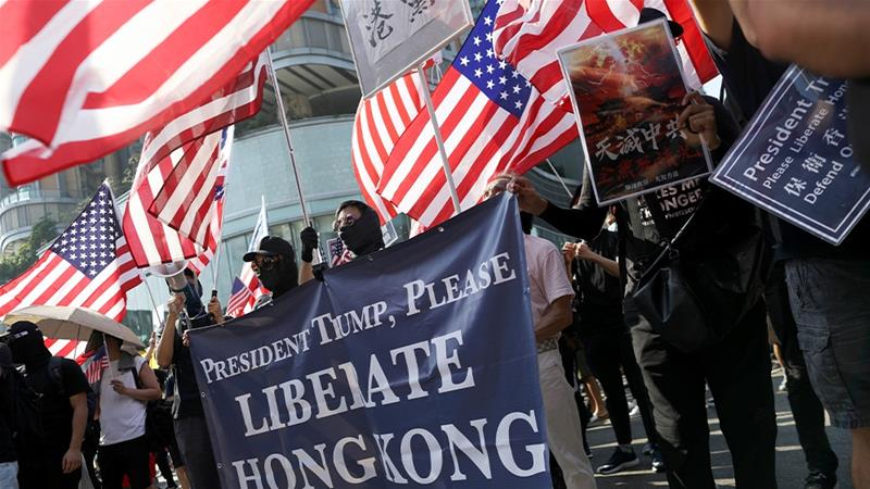 Protesters celebrate passage of controversial Hong Kong bill