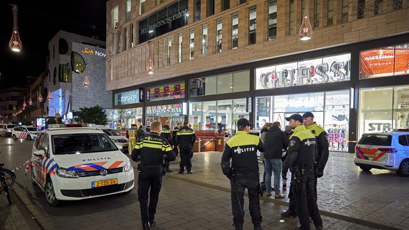 The Hague police said they were looking for a man about 45 to 50 years old in a grey jogging suit [Phil Nijhuis/AP]