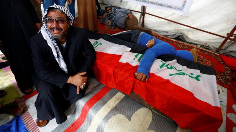 Protesters shot dead as violence continues across Iraq