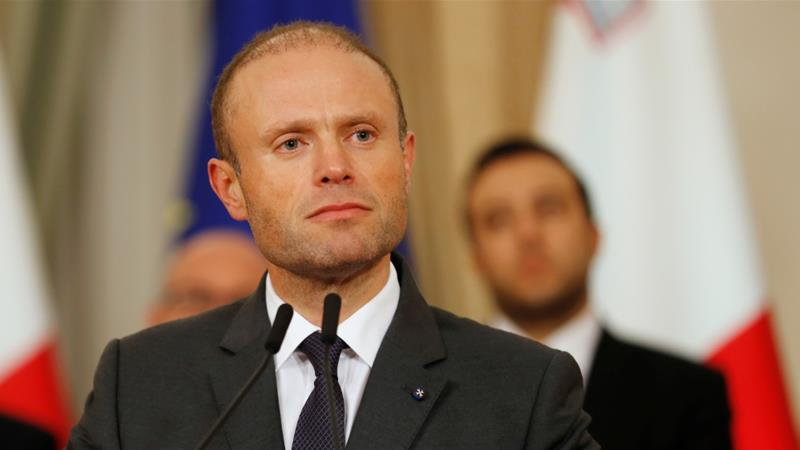 Joseph Muscat is under pressure over for his handling of an investigation into the murder of prominent investigative journalist Daphne Caruana Galizia [Yara Nardi/Reuters] [Reuters]
