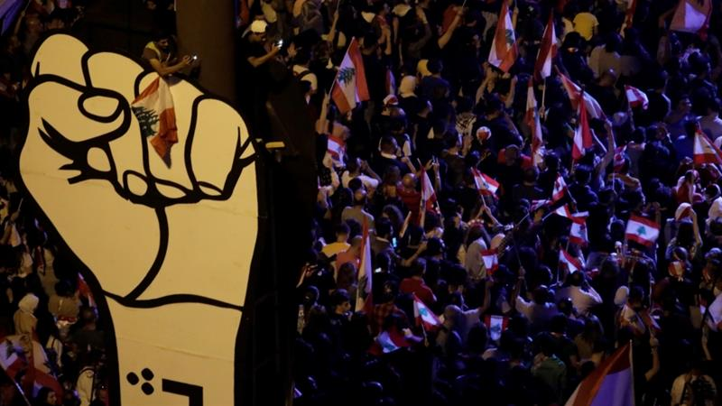 Thousands gather on Beirut's streets for anti-government protest