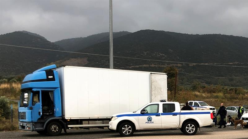 Police stopped the truck on a highway near the city of Xanthi for a regular check [Stavros Karipidis/Reuters]