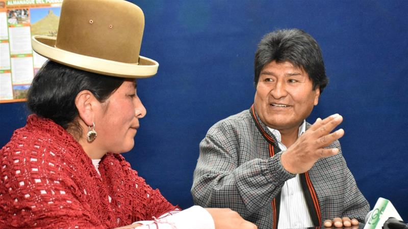 Morales is looking to remain in power until 2025 with a fourth term [Bolivian Presidency via Reuters]