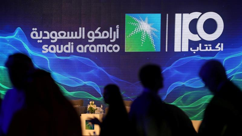 The Aramco IPO, a central element in Crown Prince Mohammed bin Salman's plan to modernise the kingdom's economy, will rely almost entirely on local money after international investors baulked at the valuation [File: Hamad Mohammed/Reuters]