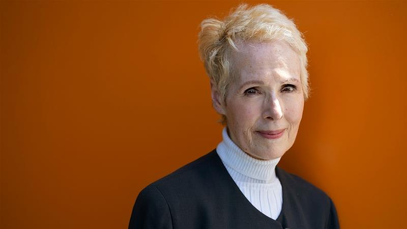 In this June 23, 2019 file photo, E Jean Carroll is photographed in New York [File: Craig Ruttle/Reuters]