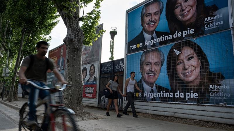 Argentine President-elect Alberto Fernandez has signalled a change in stance on Venezuela, but closer ties with the country may pose challenges in renegotiating the terms of his country's aid package from the International Monetary Fund [File: Erica Canepa/Bloomberg]