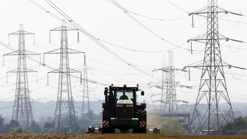 The UK's power grid operator, National Grid, is one of three companies that plan to establish a zero-emissions industrial zone in the northeast of England by 2040 [File: Darren Staples/Reuters]
