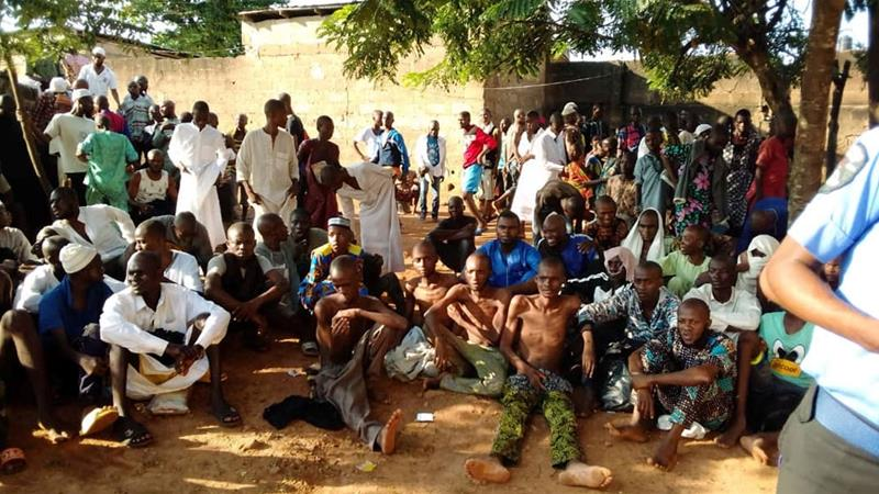 Image result for Nigeria police rescue 259 locked up in Islamic rehab centre""