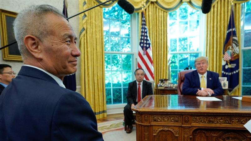 China's Vice Premier Liu He earlier travelled to Washington, DC, in October, when he and US President Donald Trump discussed trade issues but did not sign an agreement [File: Yuri Gripas/Reuters]