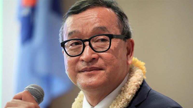 Facing arrest, Cambodia's Sam Rainsy says he will return Saturday