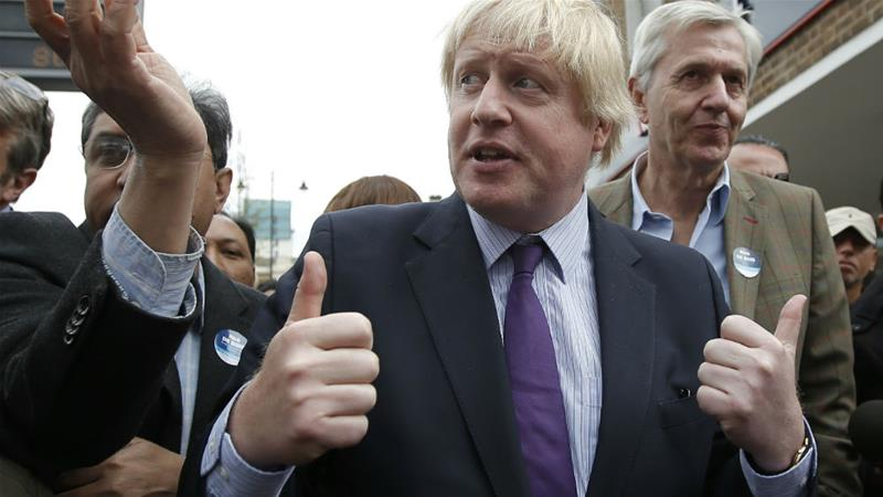 Boris Johnson campaigning as a candidate for Uxbridge and South Ruislip in the 2015 general election [File: Peter Nicholls/Reuters]