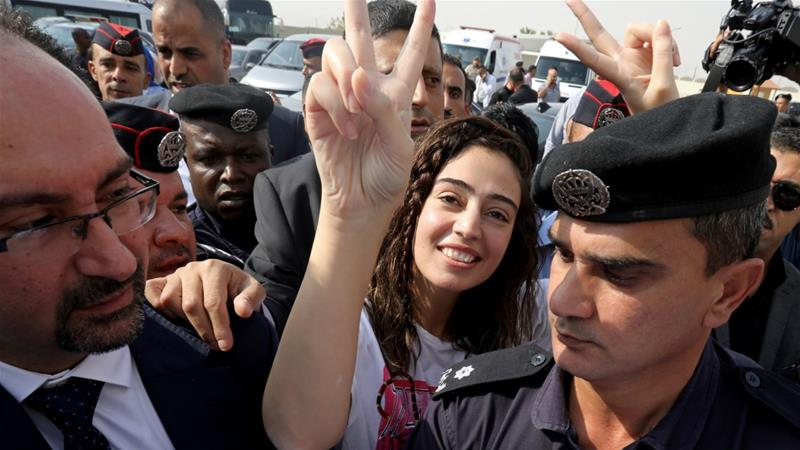 Israel frees two Jordanians held without charge