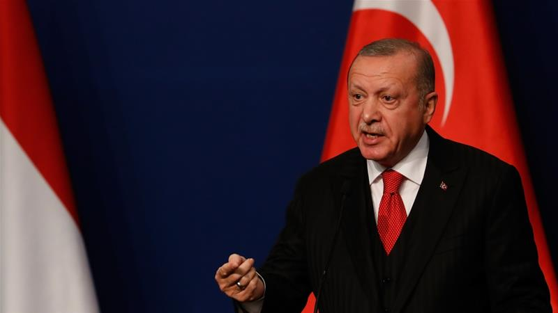 President Recep Tayyip Erdogan says Turkey will remain in northern Syria until all 'terrorists' leave the area [File: Laszlo Balogh/Getty Images]
