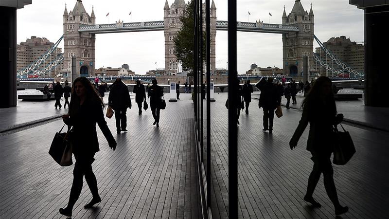 A report released Friday from the Recruitment & Employment Confederation and multinational accounting firm KPMG showed permanent job placements in the United Kingdom are on the decline [File: Toby Melville/Reuters]
