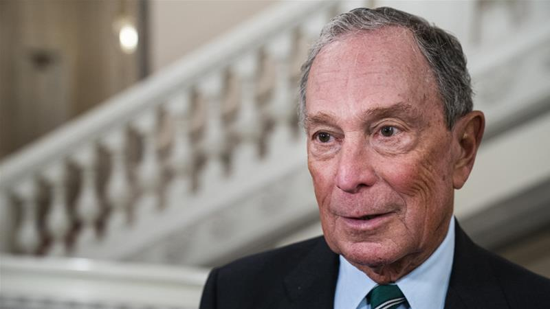 Bloomberg joins 17 candidates already vying to be Democratic nominee to take on Trump next year [File: Martin Sylvest/AFP]