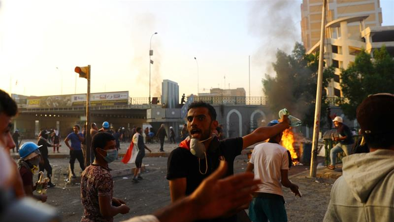 Deadly violence grips Iraq as security forces clear protest sites