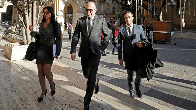 Wealthy tycoon Yorgen Fenech was charged in court on Saturday in connection with the murder of Daphne Caruana Galizia, amid a deepening political crisis over the journalist's killing [Yara Nardi/Reuters]