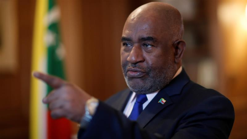 Comoros President Azali Assoumani leads one of the world's poorest countries, with a population of just 800,000 people [File: Gonzalo Fuentes/Reuters]