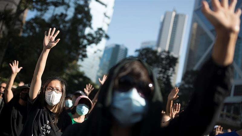 Protesters in Hong Kong have been taking to the streets since June [Thomas Peter/Reuters]