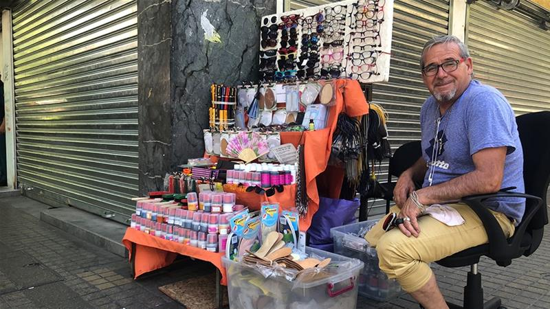 'We've put up with inequality for too long,' says Santiago street vendor Luis Valenzuela [File: Monica Yanakiew/Al Jazeera]