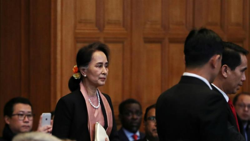 Aung San Suu Kyi arrives at ICJ as Myanmar faces genocide case