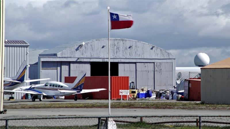 Rescue planes and ships on Tuesday searched the open sea between the southern tip of South America and Antarctica for a Chilean Air Force plane that went missing with 38 people on board [Pablo Cozzaglio/AFP]